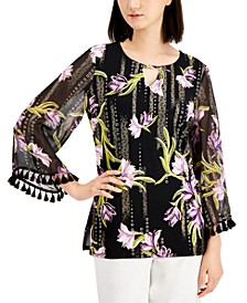 Plus Size Tassel-Trim Tunic, Created for Macy's