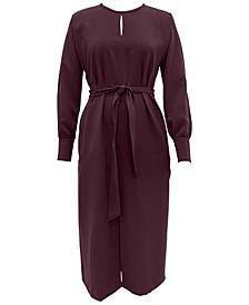 Long-Sleeve Tie-Waist Dress, Created for Macy's