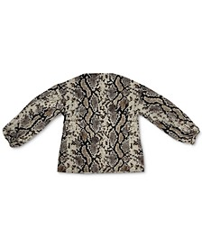 Snakeskin-Print Top, Created for Macy's