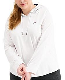 Plus Size Sport Logo Hoodie T-Shirt