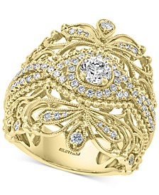 EFFY® Diamond Openwork Statement Ring (7/8 ct. t.w.) in 14k Gold
