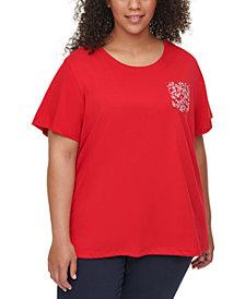 Tommy Hilfiger Plus Size Cotton Pocket T-Shirt