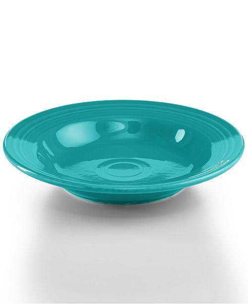 Fiesta Turquoise Rim Soup Bowl