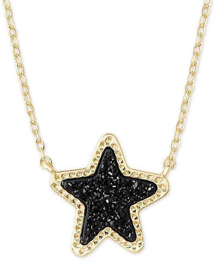"Kendra Scott - Rock Crystal Star Pendant Necklace, 17"" + 2"" extender"