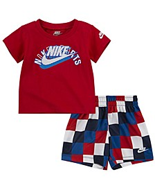 Baby Boy 2-Pc. Logo T-Shirt and Mesh Shorts Set