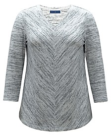 Space-Dyed V-Neck Top, Created for Macy's