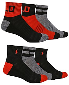 Men's 6-Pk. Colorblocked Quarter Socks
