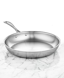 """Zwilling J.A. Henckels Spirit Polished Stainless Steel 12"""" Fry Pan"""
