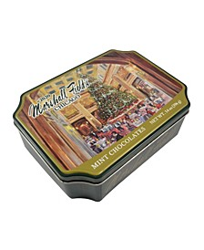 Marshall Field's Holiday Walnut Room Tin Wrapped Milk Mint Chocolates, 14 Oz