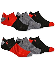 Men's 6-Pk. Colorblocked Low-Cut Socks