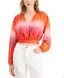 Marina Faux-Wrap Crop Top