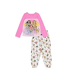 Disney Princess Little and Big Girls 2-Piece Pajama Set