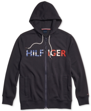 Tommy Hilfiger Adaptive Men's Logo Hoodie with Magnetic Zipper