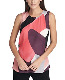 Sleeveless Abstract Top