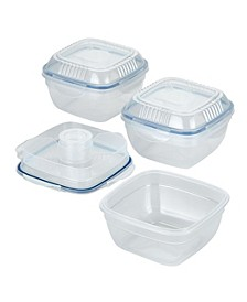 Easy Essentials On the Go Meals 32-Ounce Salad Bowl with Tray, Set of 3
