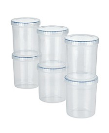 Easy Essentials Twist 34-Ounce Food Storage Containers, Set of 6