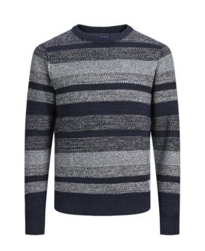 Men's Vintage Sweaters, Retro Jumpers 1920s to 1980s Jack  Jones Mens Structured Long Sleeve Sweater $44.62 AT vintagedancer.com