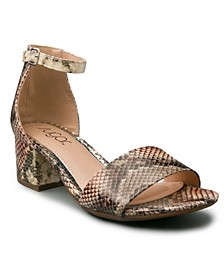 Women's Mattie Two-Piece Kitten Heel Sandals