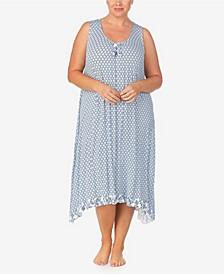 Women's Plus Size Sleeveless Midi Gown