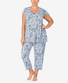 Women's Plus Size Short Sleeve Pajama Top