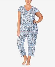 Women's Plus Size Short Sleeve Pajama Top