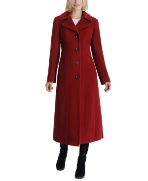 1930s Style Coats, Jackets | Art Deco Outerwear Anne Klein Single-Breasted Maxi Coat $189.00 AT vintagedancer.com