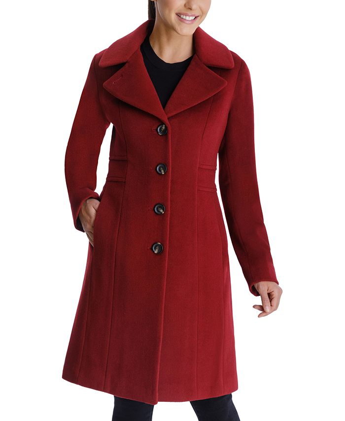 Anne Klein - Single-Breasted Walker Coat