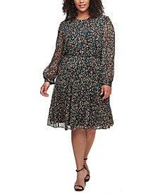 Plus Size Animal-Print Dress