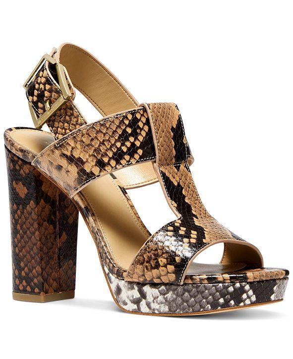 Michael Kors Becker T-Strap Slingback Sandals