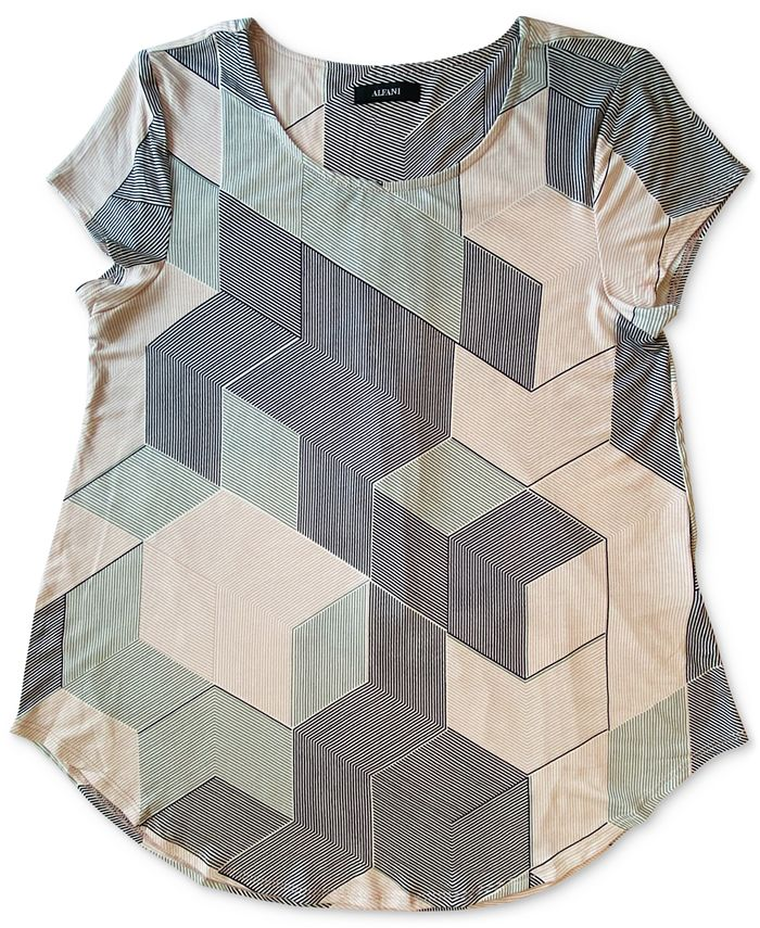 Alfani - Geo-Print T-Shirt