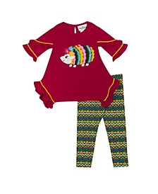 Baby Girls  Hedgehog Applique Legging Set