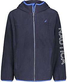 Little Boys Full Zip Hooded Logo Jacket