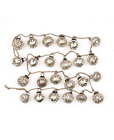 "72"" Embossed Mercury Glass Garland Ornament"