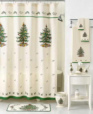 CLOSEOUT Spode Bath Accessories Holiday Tree Shower