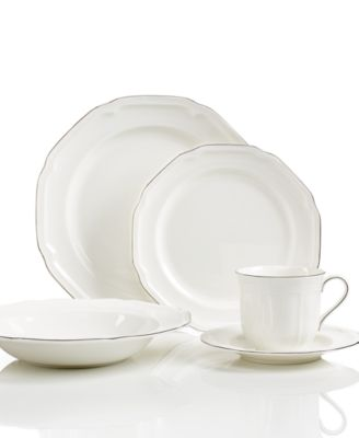 Dress your table for anything with charming Antique White dinnerware and dishes from Mikasa. A scalloped border adds a touch of texture to classic shapes in ...  sc 1 st  Macyu0027s & Mikasa Antique White Platinum Collection - Fine China - Macyu0027s