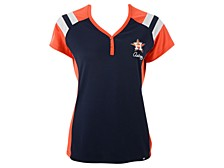 Women's Houston Astros Triple Play Henley Shirt