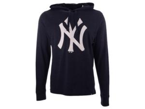 '47 Brand Men's New York Yankees Imprint Club Long Sleeve Hooded T-Shirt