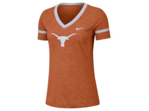 Nike Women's Texas Longhorns Slub V-Neck T-Shirt