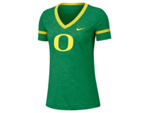 Nike Women's Oregon Ducks Slub V-neck T-Shirt