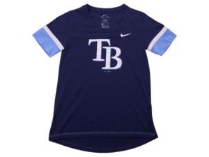 Nike Youth Tampa Bay Rays Girls V-Neck Hero T-Shirt