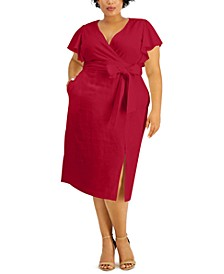 Plus Size Ruffle-Sleeve Dress