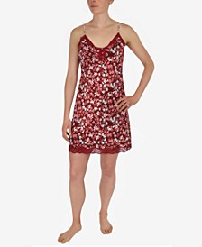 Floral-Print Chemise Nightgown