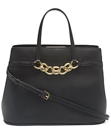 Calvin Klein Leather Evelyn Tote