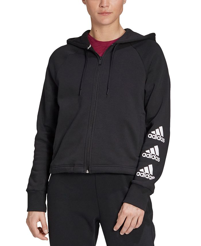 adidas - Stacked Logos Zip Hoodie