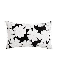 """Cutout Floral Decorative Pillow, 20"""" x 12"""""""