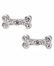 Pave Bone Stud Earring