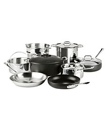 NEW! Mixed Materials 12-Pc. Cookware Set