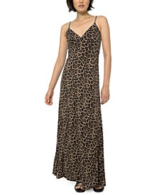 Leopard-Print Cami Maxi Dress, Regular & Petite Sizes