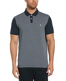 Men's Jacquard Front Polo