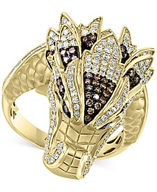 EFFY® Diamond Dragon Statement Ring (3/4 ct. t.w.) in 14k Gold